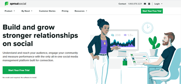 Sprout Social landing page