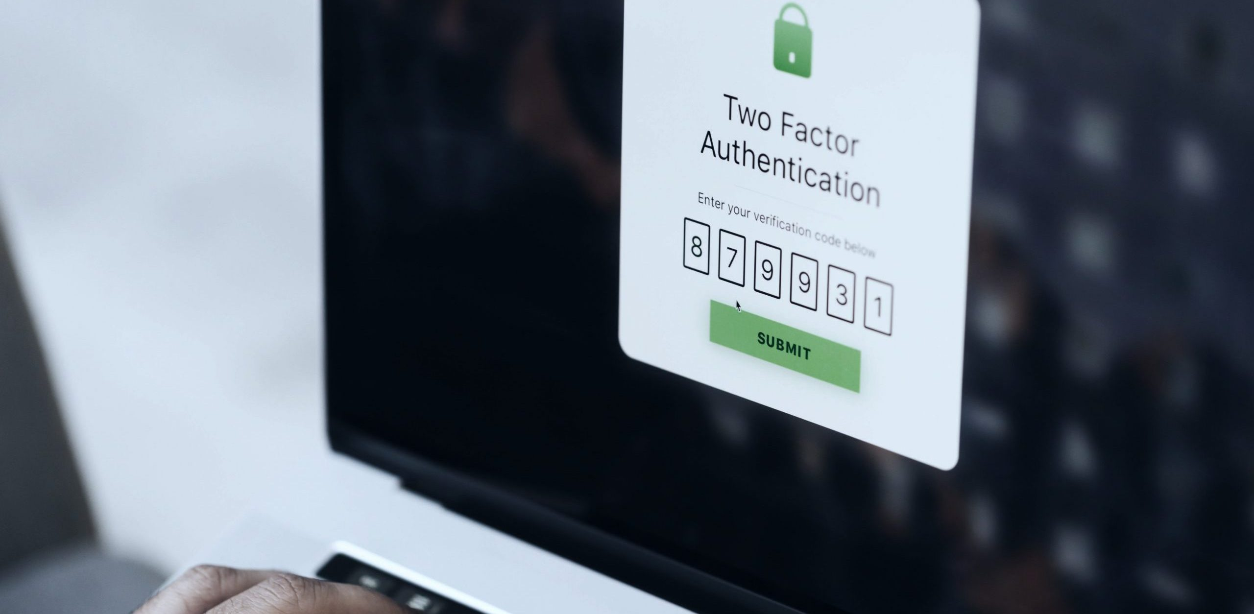 Authentication code on screen