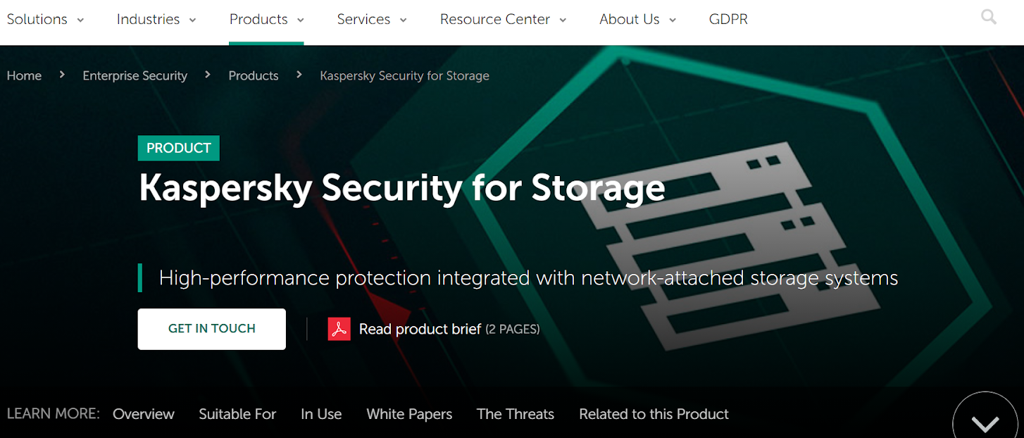 Kaspersky enterprise data protection