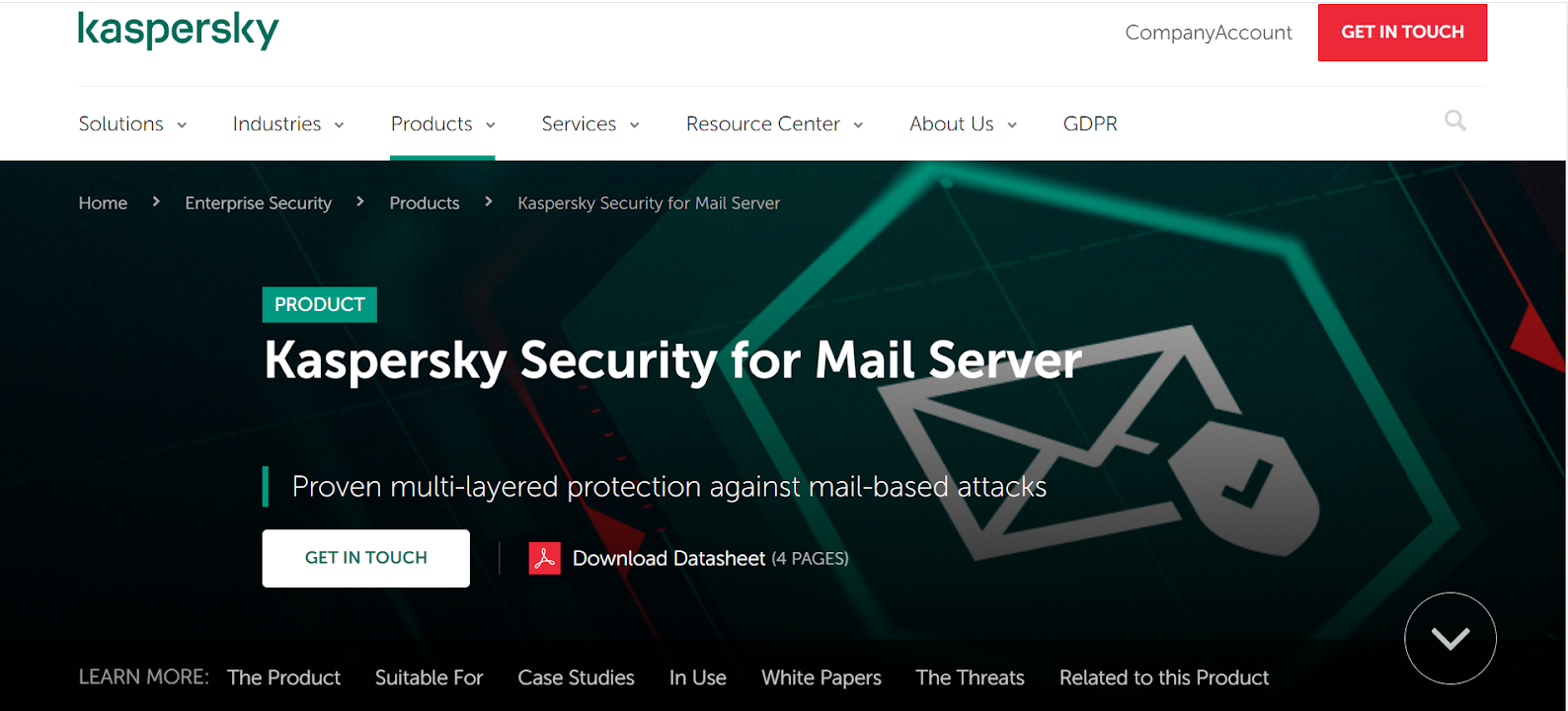 Kaspersky for mail server
