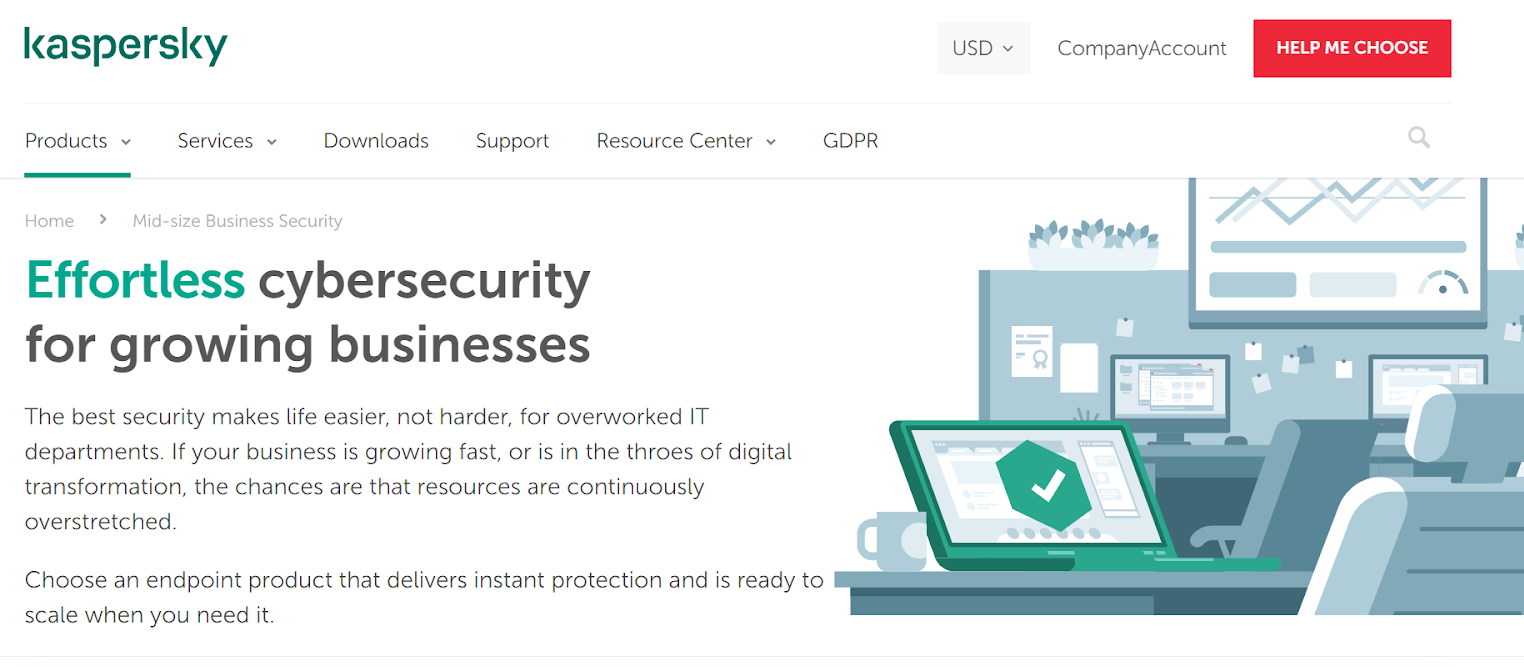 Kaspersky for medium business