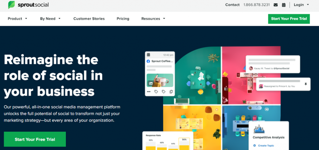 SproutSocial homepage