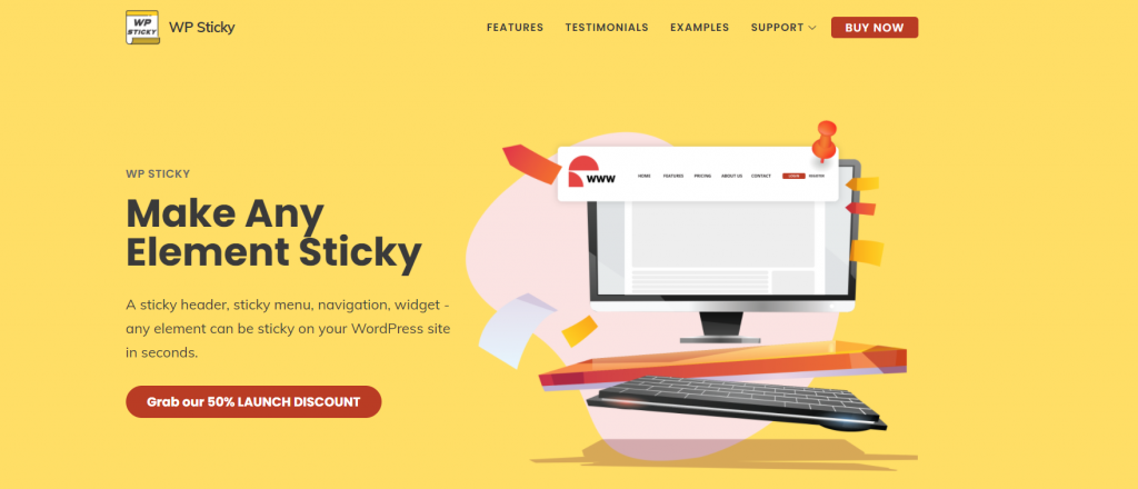 WP Sticky homepage