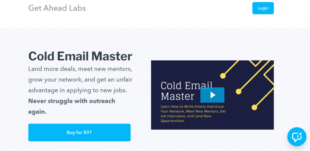 Cold Email Master homeapge