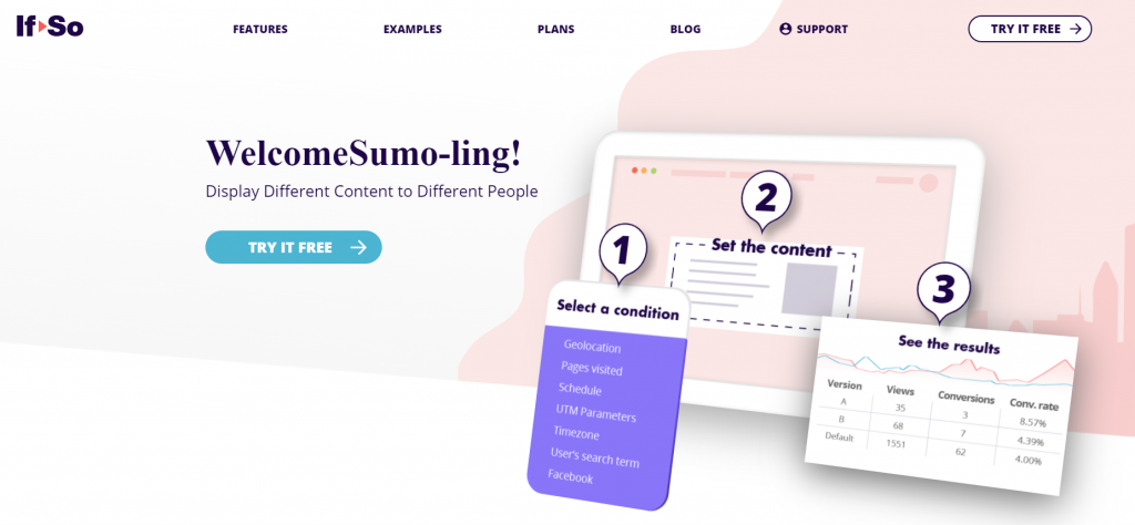 If So Dynamic Content homepage