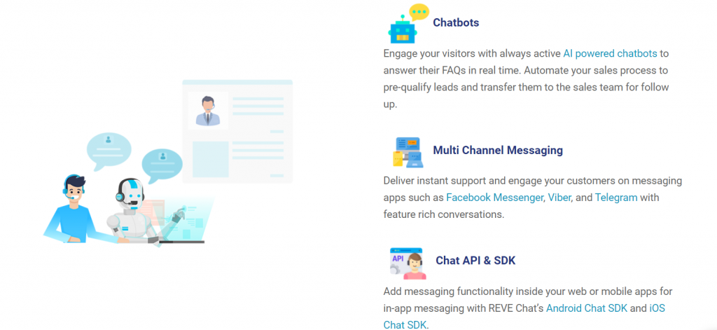 REVE Chat features