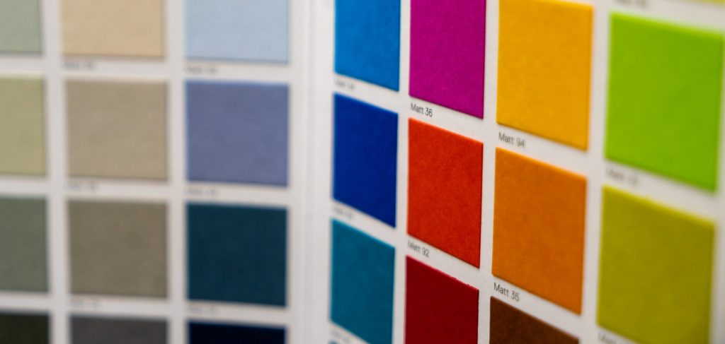 """A color sample for Gmund Matte colors. """"Vibrant pops of color radiate brilliantly in a celebration of unbounded creativity. Produced in forty-eight foundational colors, each crafted with a classic matt finish and designed for the Gmund Colors collection."""""""